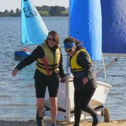 Not any where near 65, Dawn and  Rose tackle learning to sail the lakes along with the kidlets