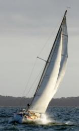 No Worries sailed by Paul Borg paints a pretty and winning picture in the Twilight of  23 Oct.