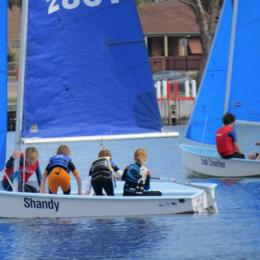 Juniors do an about face on their Pacer in Sail training