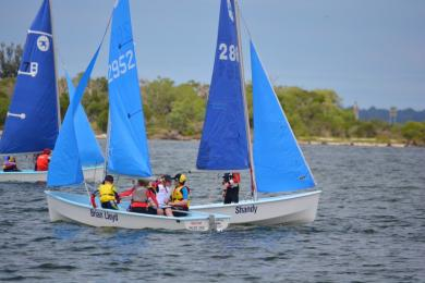 Our new batch of Sailing School sailors strut their stuff in the bay