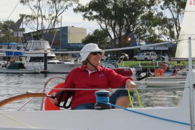 Linda Young revels in the joy of sailing down the straits