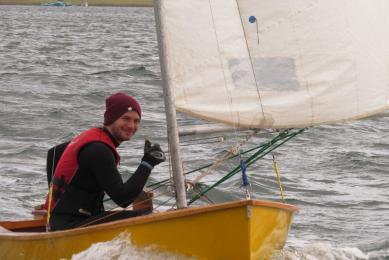 Daniel hones his skills and confidence on Yellow Boat Sabre in the Sprint Series