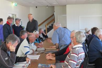 A good turnout for the Sailors' Meeting on Sunday with everyone in accord!