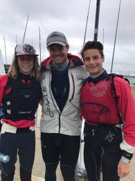 Charlie and Luca rub shoulders with the greats of Australian sailing