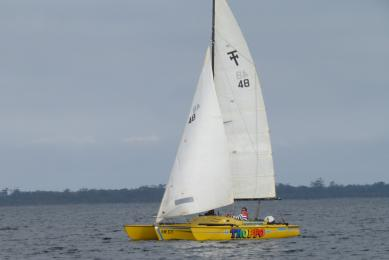Welcome to new member, Peter Boyle, sailing Troppo, a tri