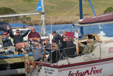 Impromptu cruise to Nicho and a meal at the cafe drew 7 boats and a crowd for dinner Sept 6.  Thank you, Alex,
