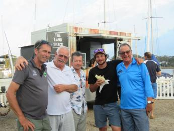 Neil, Alastair, David Frecheville, Dan and Mark relax Wednesday after 5 Minnow championship races