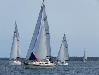 Carol helms Time on her maiden GLYC race on 6th Jan Lady Skippers race