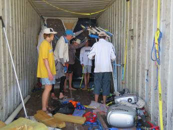 The NT sailors pack up for home.  They are hosting the next Nationals this coming July