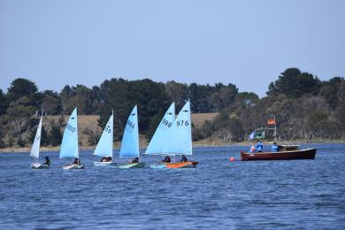 James made sure the Novice fleet had FUN while they increased their skills and confidence in the Minnow Nats