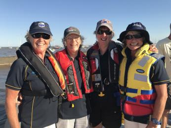 Our own GLYC all female Kalimna with Barb, Lesley, Anne, and Robyn in this year's MPONR
